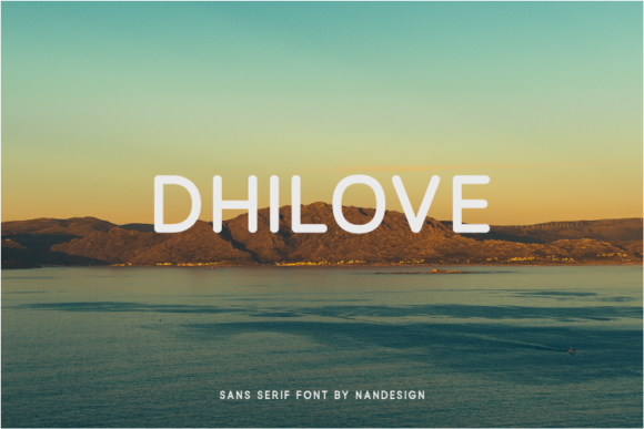 Print on Demand: Dhilove Sans Serif Font By Nan Design