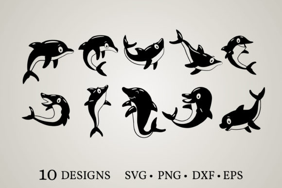Download Free Dolphin Bundle Graphic By Euphoria Design Creative Fabrica for Cricut Explore, Silhouette and other cutting machines.
