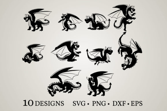 Dragon Bundle Graphic Print Templates By Euphoria Design