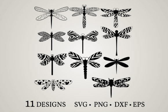 Download Free Dragonfly Bundle Graphic By Euphoria Design Creative Fabrica for Cricut Explore, Silhouette and other cutting machines.