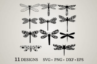 Dragonfly Bundle Graphic Crafts By Euphoria Design