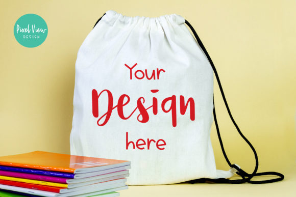 Print on Demand: Drawstring Bag Mockup I Back to School Graphic Product Mockups By Pixel View Design