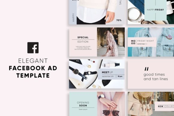 Elegant Facebook Ad Templates Graphic Graphic Templates By krisjanis