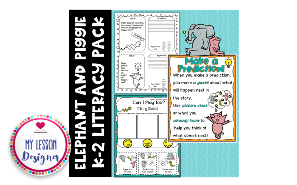 Elephant And Piggie Literacy Pack Graphic By My Lesson Designer