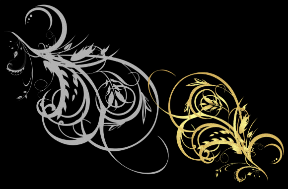 European Gold Frame Vector Graphic Backgrounds By ART Design