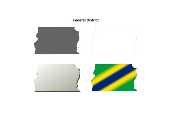 Download Free Federal District Outline Map Set Graphic By Davidzydd Creative for Cricut Explore, Silhouette and other cutting machines.