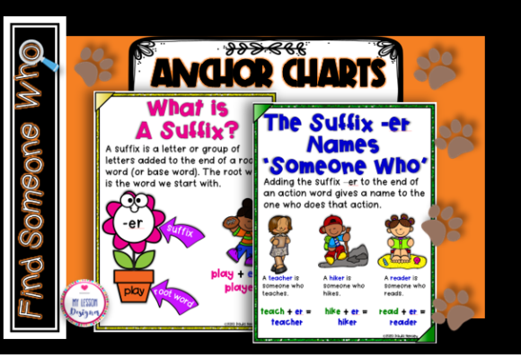 Find Someone Who Suffix -ER Task Cards Graphic 1st grade By My Lesson Designer - Image 2