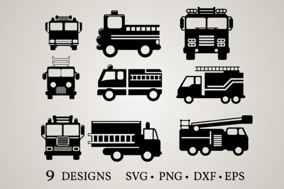 Download Free Fire Truck Graphic By Euphoria Design Creative Fabrica for Cricut Explore, Silhouette and other cutting machines.