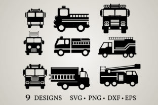 Fire Truck Graphic Crafts By Euphoria Design