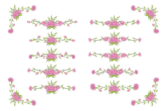 Print on Demand: Floral Classic Vintage Vector Ornaments Graphic Objects By anomali.bisu