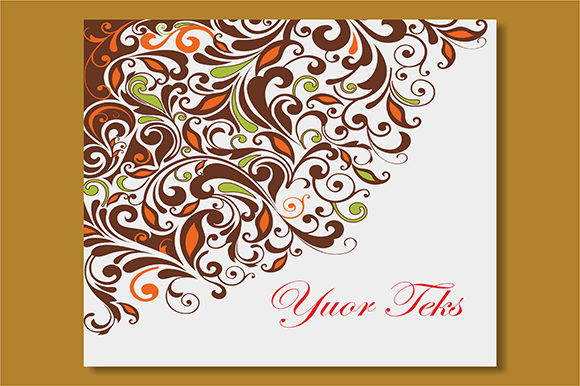 Floral Template Vector Graphic Backgrounds By ART Design