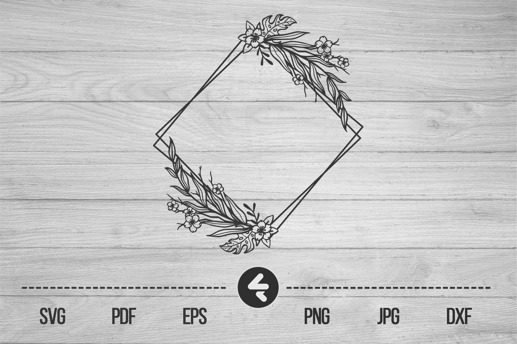 Download Free Flower Frame Border Frame Graphic By Flocalliastore Creative for Cricut Explore, Silhouette and other cutting machines.