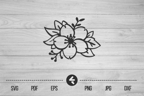 Download Free Flower Frame Floral Graphic By Flocalliastore Creative Fabrica for Cricut Explore, Silhouette and other cutting machines.