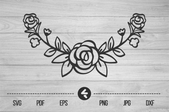 Print on Demand: Flower Frame, Roses Gráfico Crafts Por flocalliastore