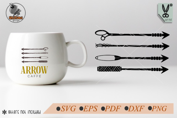 Download Free Four Arrow Tailor Simple Cut File Graphic By Rizuki Store for Cricut Explore, Silhouette and other cutting machines.