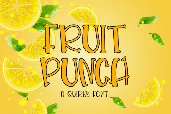 Print on Demand: Fruit Punch Display Font By Fillo Graphic