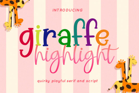 Print on Demand: Giraffe Highlight Script & Handwritten Font By airotype