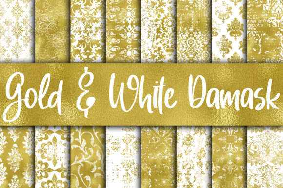 Grungy Gold And White Digital Paper Graphic By Oldmarketdesigns