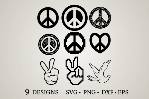 Download Free Hand Peace Sign Graphic By Euphoria Design Creative Fabrica SVG Cut Files