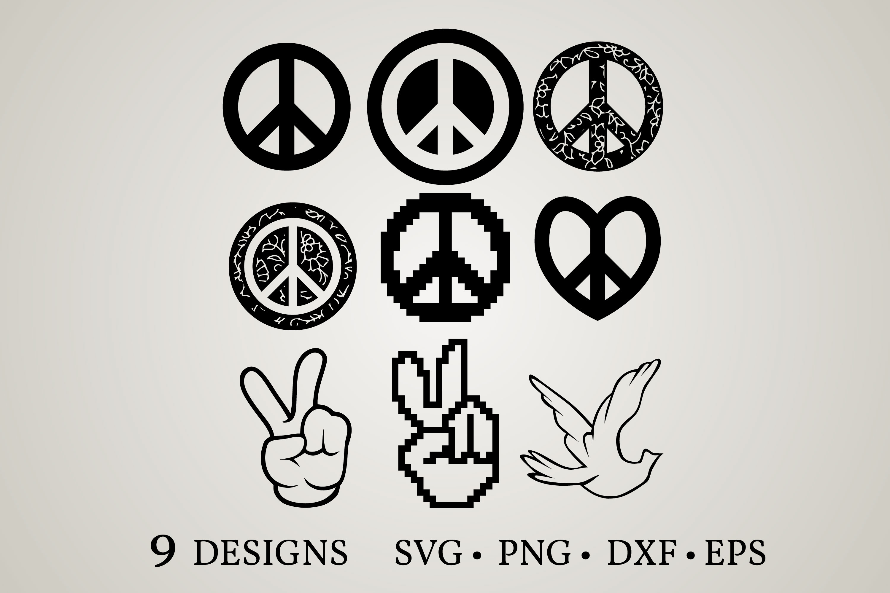 Download Free Hand Peace Sign Graphic By Euphoria Design Creative Fabrica for Cricut Explore, Silhouette and other cutting machines.