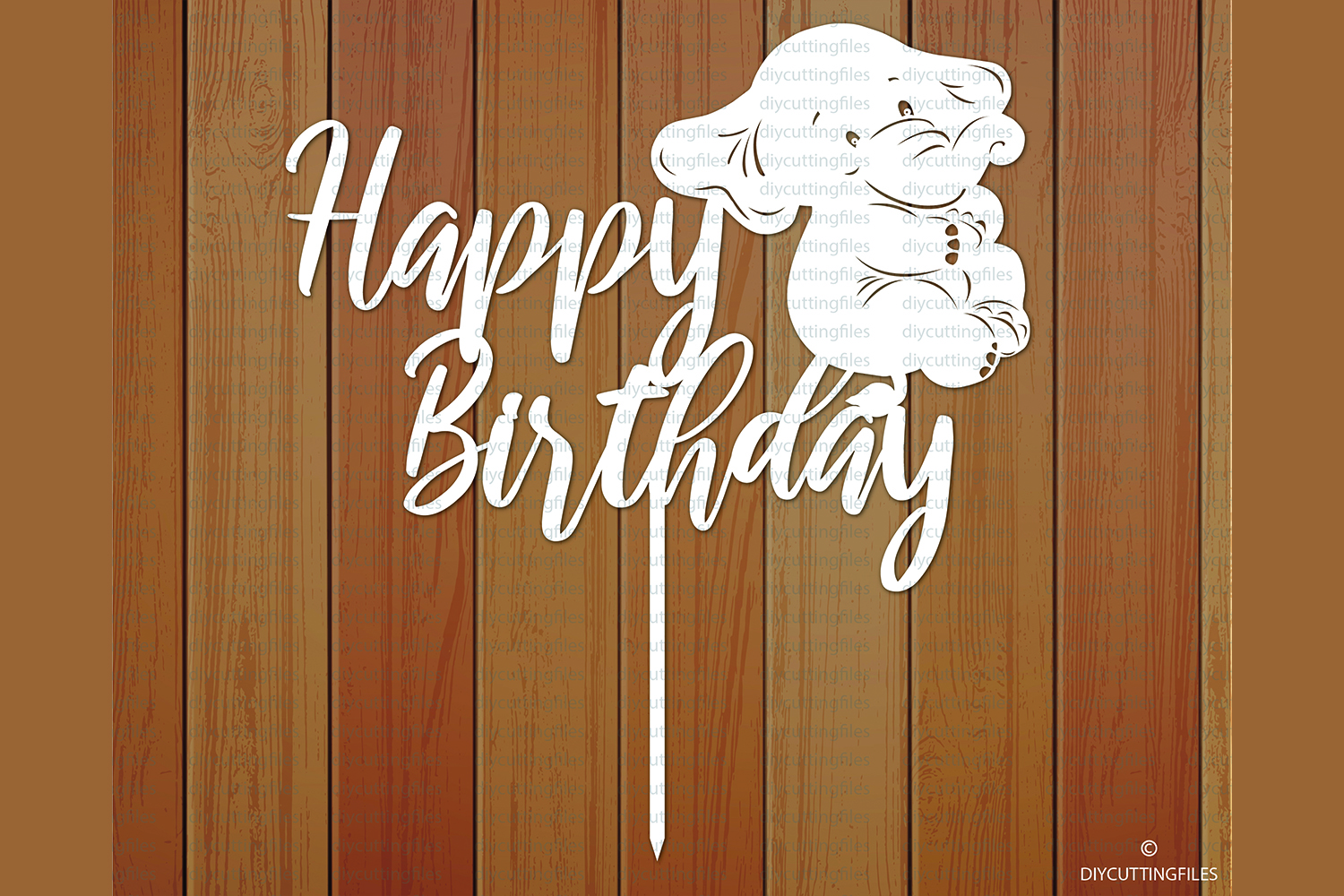 Download Free Happy Birthday Cake Topper Graphic By Diycuttingfiles Creative for Cricut Explore, Silhouette and other cutting machines.