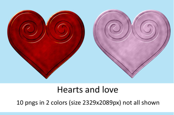 Print on Demand: Hearts and Love Gráfico Crafts Por Andrea Kostelic
