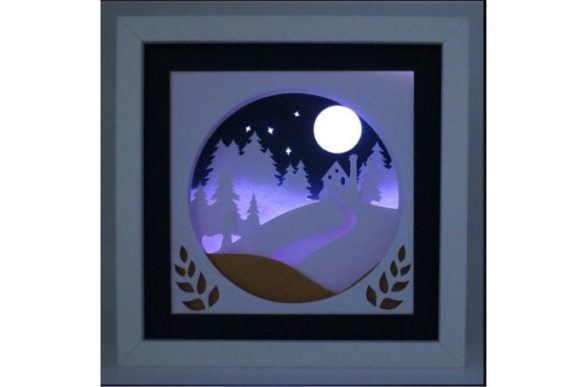Download Free Homeward Bound 3d Paper Cut Light Box Graphic By Kiyoni for Cricut Explore, Silhouette and other cutting machines.