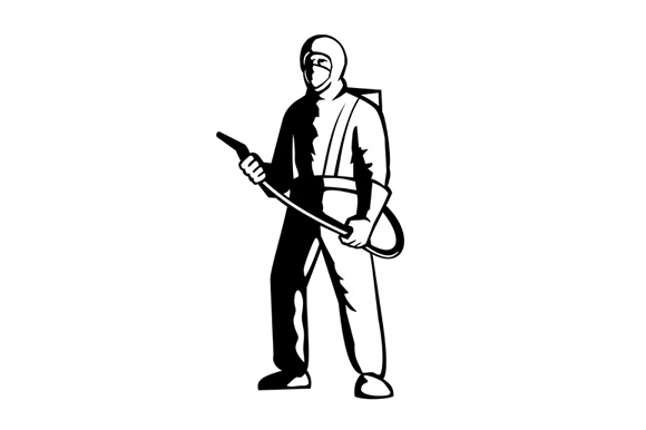 Download Free Industrial Worker Spray Disinfectant Sta Graphic By Patrimonio for Cricut Explore, Silhouette and other cutting machines.