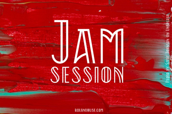 Print on Demand: Jam Session Display Font By Roland Hüse Design