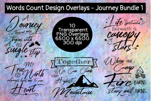 Journey Overlay Bundle #1 Graphic Crafts By Words Count Designs