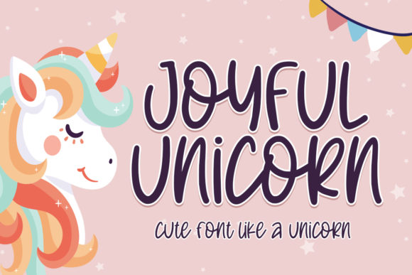 Print on Demand: Joyful Unicorn Script & Handwritten Font By Typefar
