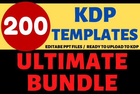 Print on Demand: KDP Bundle 200 Templates | KDP Interiors Graphic KDP Interiors By Mastery Templates