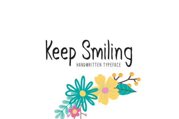 Print on Demand: Keep Smiling Display Font By Seemly Fonts