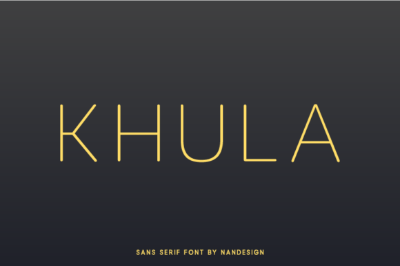 Download Free Khula Font By Nan Design Creative Fabrica for Cricut Explore, Silhouette and other cutting machines.