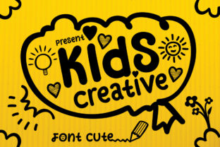 Print on Demand: Kids Creative Dingbats Font By aneukmuda190