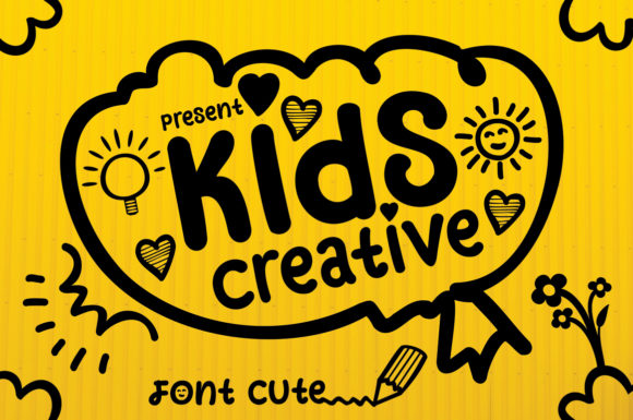 Print on Demand: Kids Creative Dingbats Schriftarten von aneukmuda190