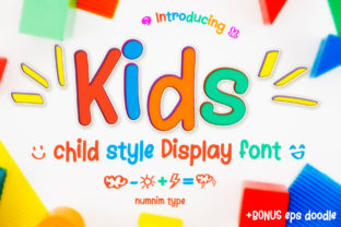 Print on Demand: Kids Script & Handwritten Font By numnim