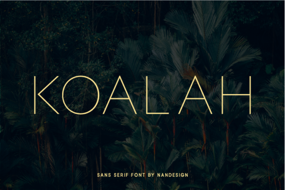 Download Free Koalah Font By Nan Design Creative Fabrica for Cricut Explore, Silhouette and other cutting machines.