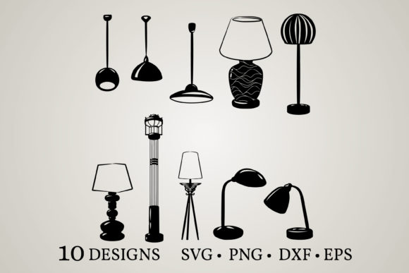 Download Free Lamp Bundle Graphic By Euphoria Design Creative Fabrica for Cricut Explore, Silhouette and other cutting machines.