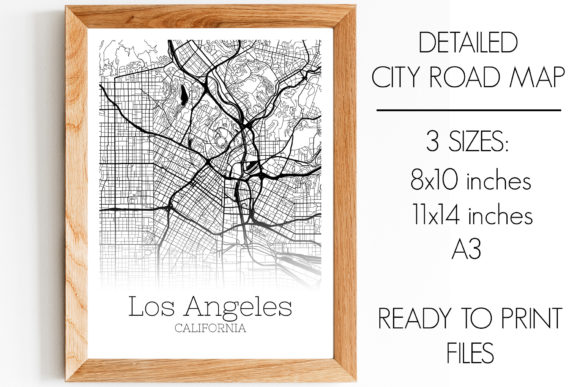 Print on Demand: Los Angeles - California - City Map Graphic Photos By SVGExpress