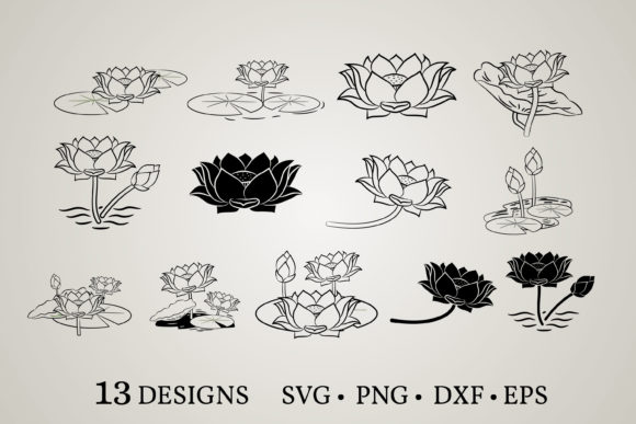 Lotus Bundle Graphic Print Templates By Euphoria Design