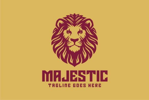 Download Free Majestic Lion Graphic By Herulogo Creative Fabrica for Cricut Explore, Silhouette and other cutting machines.