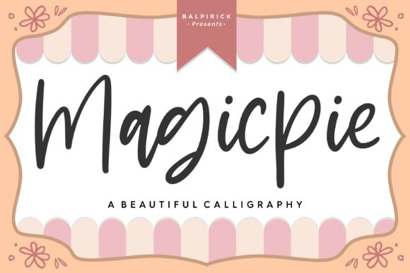 Download Free Magicpie Font By Balpirick Creative Fabrica for Cricut Explore, Silhouette and other cutting machines.
