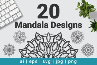 Download Free Mandala Designs Bundle Vector Graphic By Kamukita Creative Fabrica for Cricut Explore, Silhouette and other cutting machines.