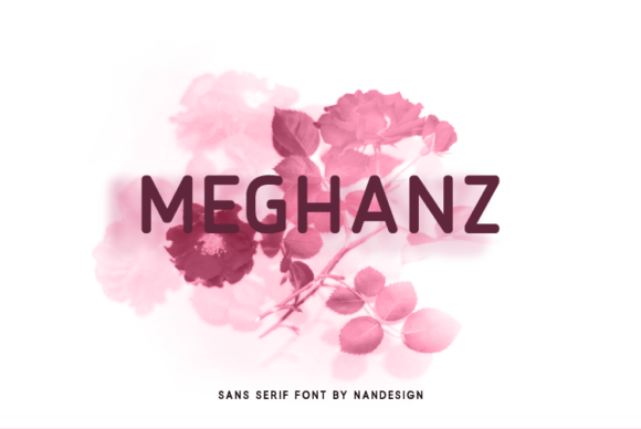 Print on Demand: Meghanz Sans Serif Font By Nan Design