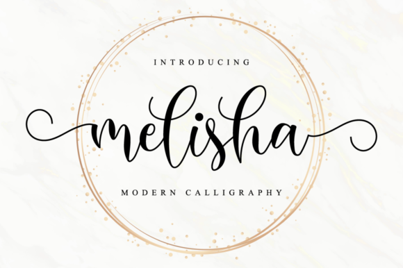 Print on Demand: Melisha Script & Handwritten Font By NissaStudio