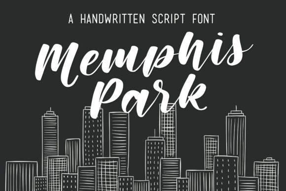 Download Free Memphis Park Font By Sarahtrafford Creative Fabrica for Cricut Explore, Silhouette and other cutting machines.