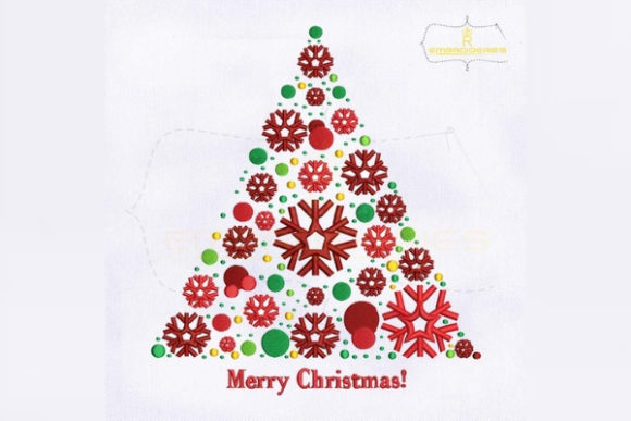 Merry Christmas Tree Christmas Embroidery Design By royalembroideries