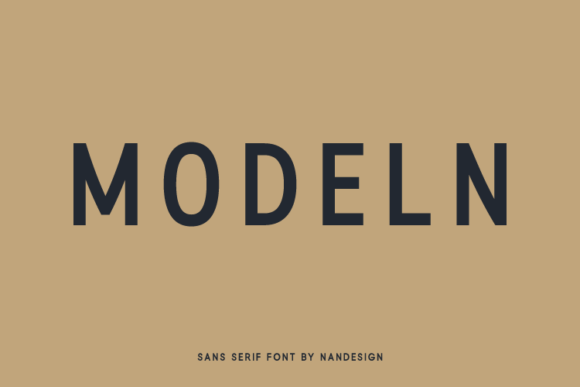 Print on Demand: Modeln Sans Serif Font By Nan Design