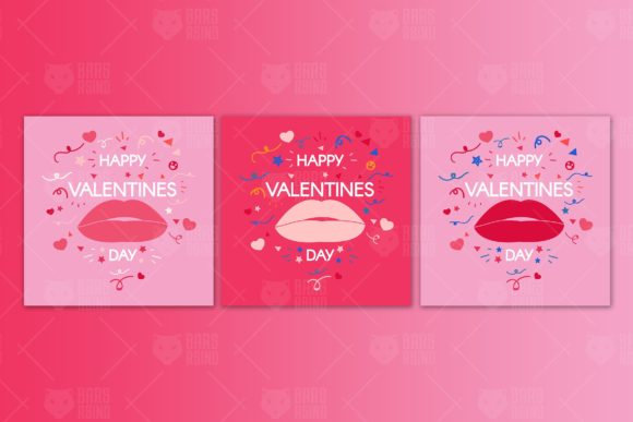 Download Free Modern Valentine S Day Banners Graphic By Barsrsind Creative for Cricut Explore, Silhouette and other cutting machines.